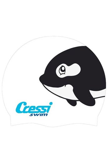 Cressi Junior Silicone Swim Hat - Whale