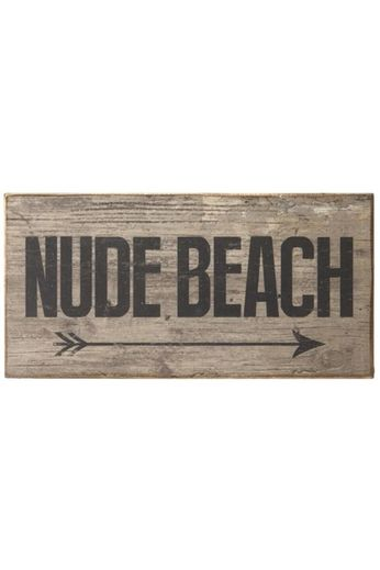 Heaven Sends Heaven Sends Nude Beach Wooden Sign