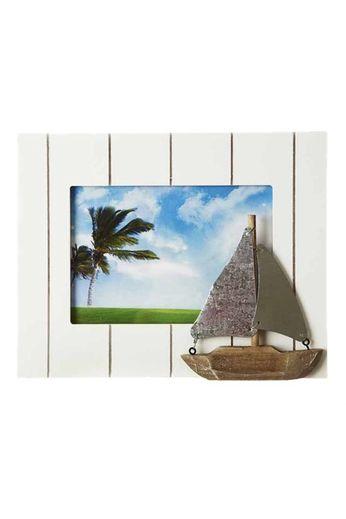 Heaven Sends Heaven Sends- White Wooden Boat Frame