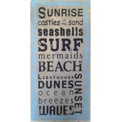 Heaven Sends Sunrise Seashells Surf Plaque