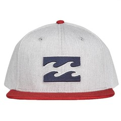 Billabong All Day Snapback Cap Grey Heather Red
