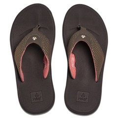 Reef Rover Flip Flops Brown / Coral