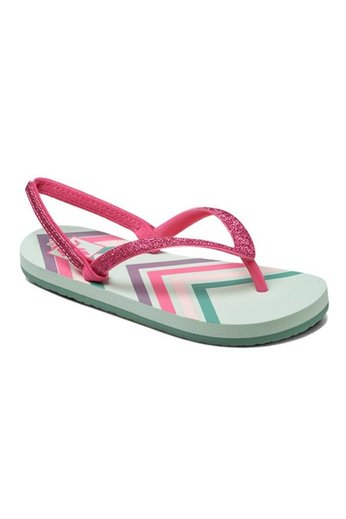 Reef Little Stargazer Flip Flops Mint Chevron