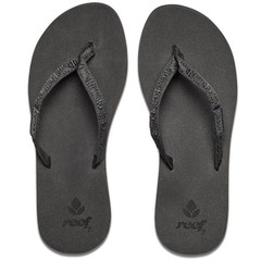 Reef Ginger Flip Flops Black/Black