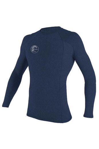 O'Neill Wetsuits Mens Hybrid Crew Rash Vest L/S Navy