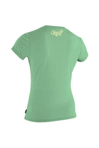 O'Neill Wetsuits Girls Skins Rash Tee Mint S/S
