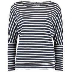 O'Neill Clothing Jacks Base Striped L/S Top White w/ Blue