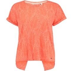 O'Neill Clothing Crop Split Back Top Fluoro Peach