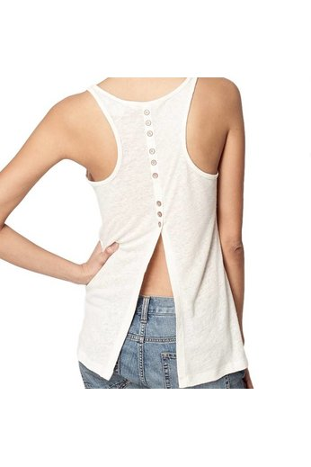 O'Neill Clothing Back Detail Linen Top Powder White