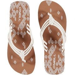 O'Neill Clothing 3 Strap Ditsy Flip Flops Powder White