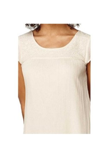 O'Neill Clothing Embroidered Dress Creme Brulee