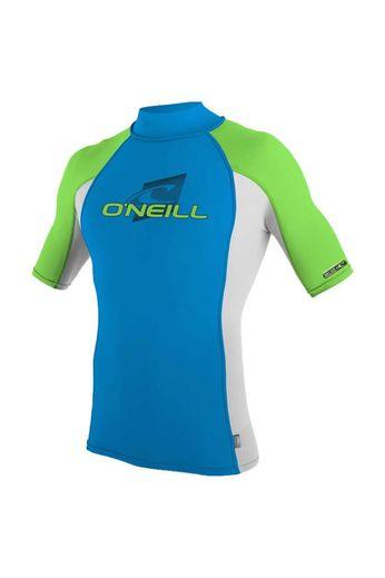 O'Neill Wetsuits Youth Skins Rash Vest BRTBLU/LUNAR/DGLO S/S