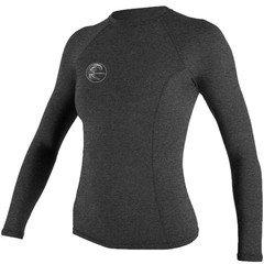O'Neill Wetsuits Womens Hybrid Crew Rash Vest L/S Graphite