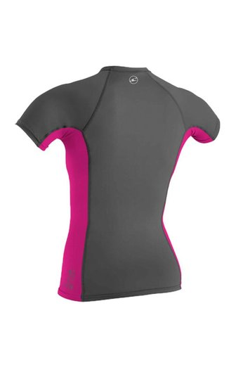 O'Neill Wetsuits Womens Skins Crew S/S GRAPH/BERRY/GRAPH