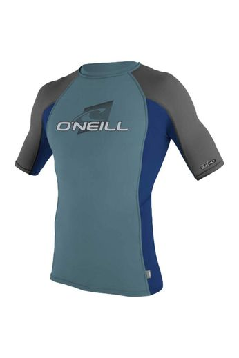 O'Neill Wetsuits Youth Skins Crew Rash Vest S/S DSTYBLU/NVY/GRAPH