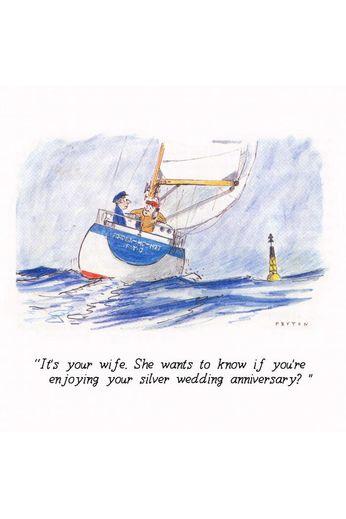 Nauticalia Greetings Card Enjoying Anniversary