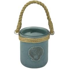 Nauticalia Sand Jar Blue Scallop