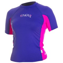 O'Neill Wetsuits Girls Skins Crew S/S Cobalt