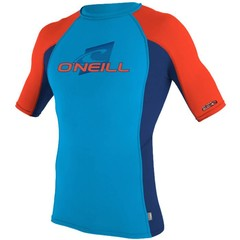 O'Neill Wetsuits Youth Skins Rash Vest Sky S/S