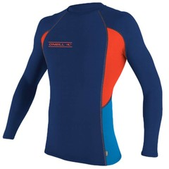 O'Neill Wetsuits Skins L/S Crew Rash Vest Navy