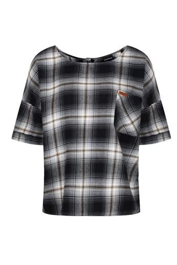 Passenger Jaunt Shirt Black Ecru Rust