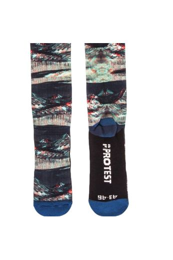 Protest Backspace Snow Socks Ground Blue