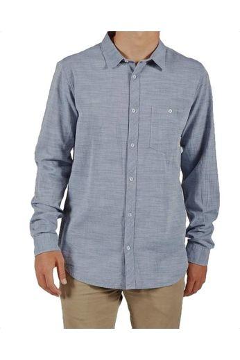 Billabong All Day Slub L/S Shirt Deep Blue