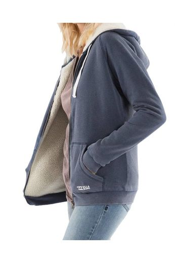 Billabong Essential Sherpa Zip Hoody Deep Indigo