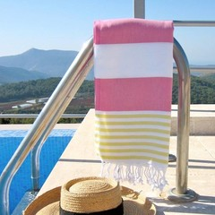 Saint Saint Sol Lido Throw - Pink/Yellow/White