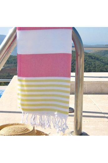 Saint Saint Sol Lido Throw - Pink/Yellow/White