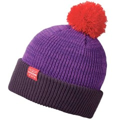 Dakine Elmo Bobble Beanie Hat Dark Purple Mix