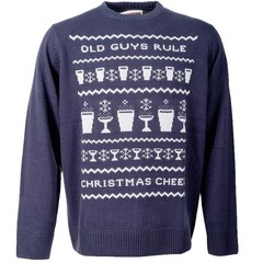 Old Guys Rule Xmas Cheer Jumper Navy