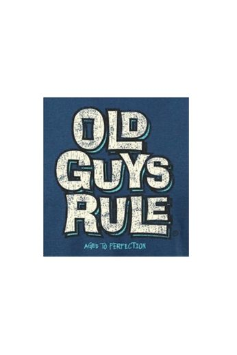 Old Guys Rule Aged to Perfection T-Shirt Blue Dusk