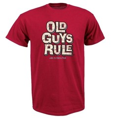 Old Guys Rule Age to Perfection T-Shirt Cardinal Red