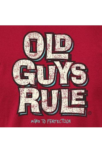Old Guys Rule Aged to Perfection T-Shirt Cardinal Red