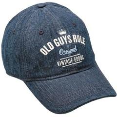 Old Guys Rule Vintage Goods Cap - Denim Blue