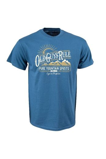 Old Guys Rule Pure Mountain T-Shirt Front Print