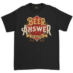Oldies Club Beer Answer T-Shirt Black