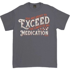 Oldies Club The Limits Of My Medication T-Shirt Charcoal