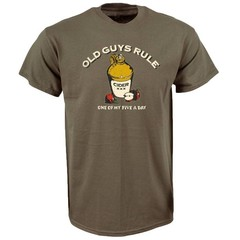 Old Guys Rule Five a Day Front T-Shirt