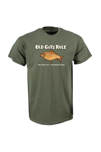 Old Guys Rule Bigger It Was Fish T-Shirt Front Print