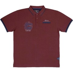 Oldies Club Born To Be Polo Shirt Burgundy
