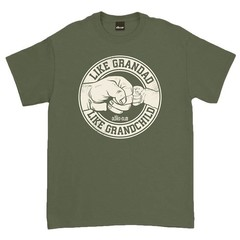 Oldies Club Like Grandad Like Grandchild T-Shirt Military Green