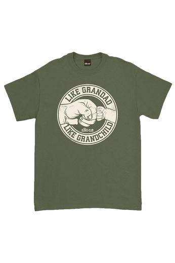 Oldies Club Like Grandad Like Grandchild T-Shirt Military Green