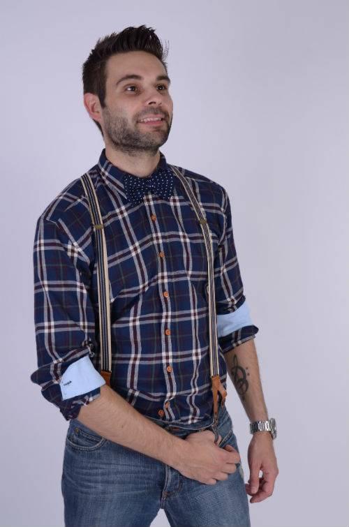 English Fashion Gebreide Bow Tie Blauw