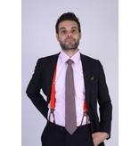 English Fashion Silk Tie Dark red checkered