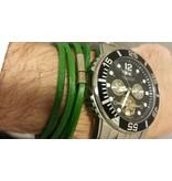 English Fashion Leather Wrap Bracelet Green
