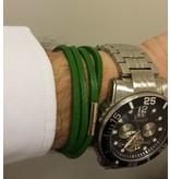 English Fashion Leren Wrap Armband Groen