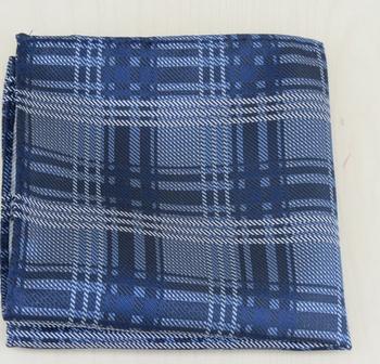 English Fashion Pochet Blauw Geruit