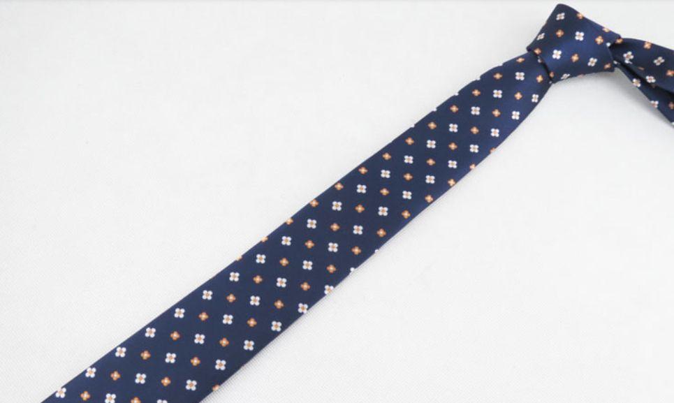 English Fashion Skinny Tie Floral Blue
